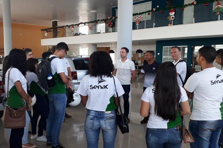 Brumado: A4 Veículos recebe visita técnica de alunos do curso de Administração Jovem Aprendiz