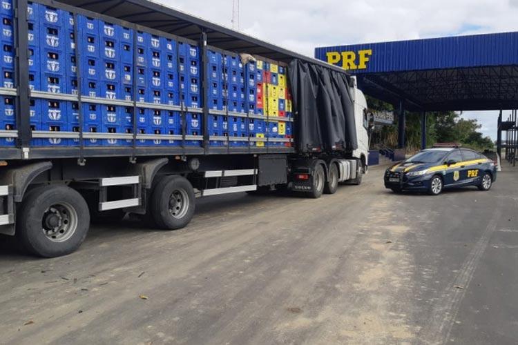 Vitória da Conquista: Mais de 21 mil litros de cerveja são apreendidos por sonegação fiscal na BR-116