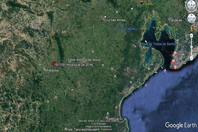 Tremor de terra de 3,5 atinge cidades do interior da Bahia