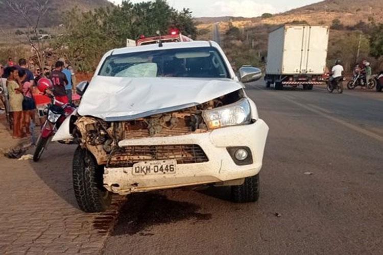 Gestante de seis meses morre em acidente na BR-430 em Riacho de Santana