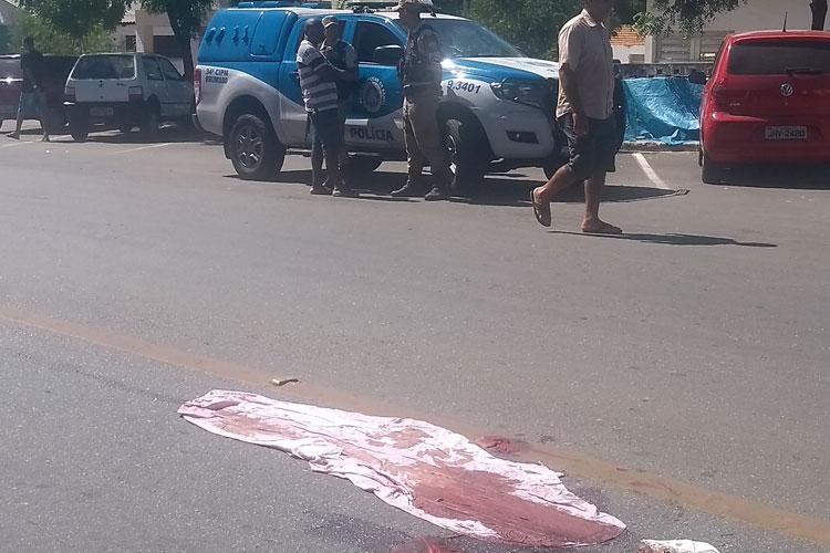 Idosa morre após ser atropelada por moto no centro de Brumado
