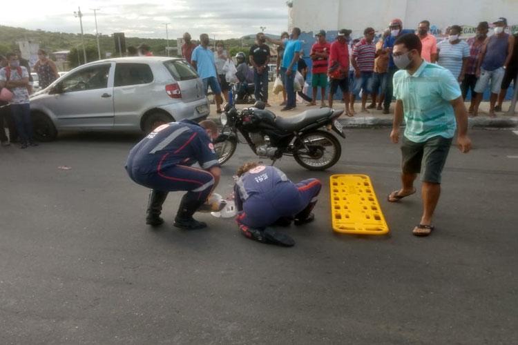 Idosa de 74 anos é atropelada na Avenida Centenário em Brumado