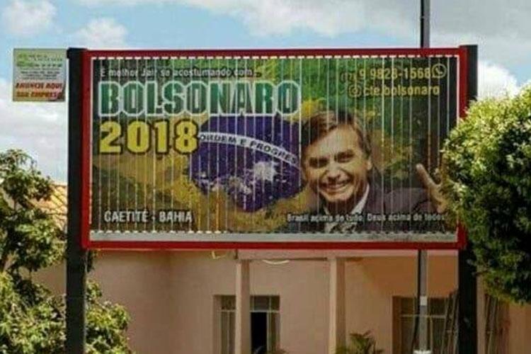 Caetité: Justiça determina retirada de outdoor em homenagem a Bolsonaro