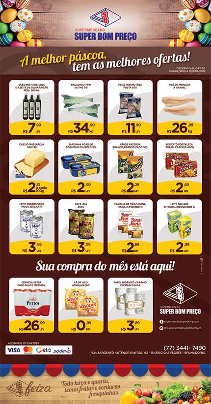Confira as promoções de Páscoa no Supermercado Super Bom Preço em Brumado
