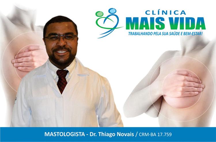 Clinica Mais Vida alerta para a importância  da consulta com o mastologista