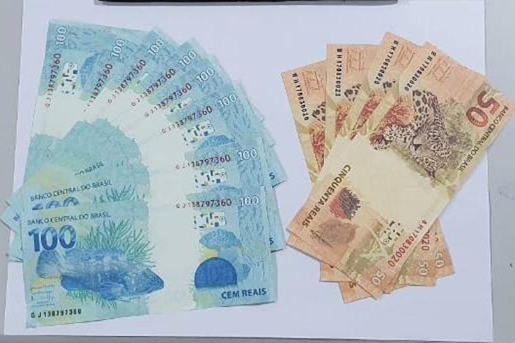 Botuporã: Homem é detido acusado de movimentar R$ 20 mil em notas falsas