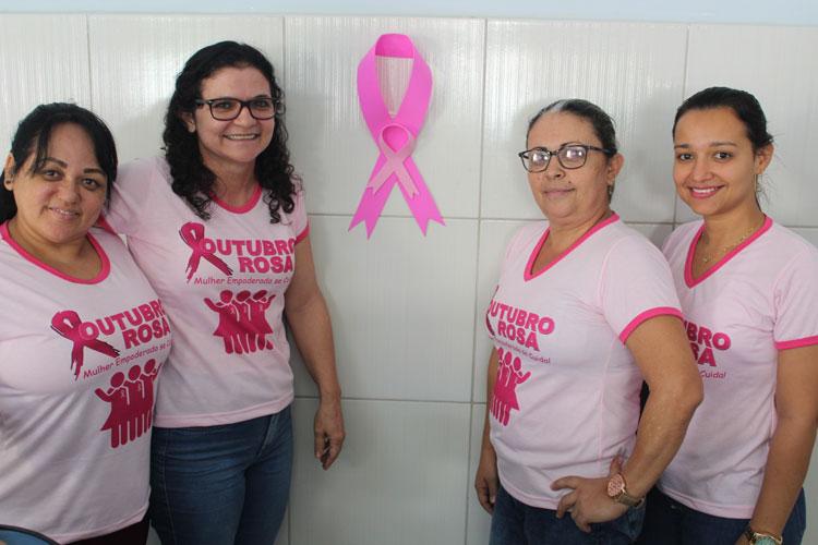 Brumado: Campanha Outubro Rosa motiva mulheres a realizarem o autoexame das mamas