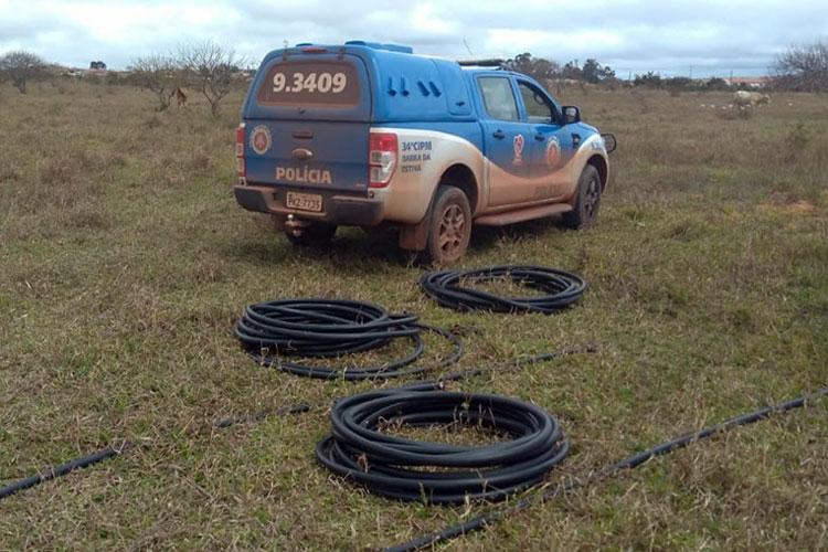 Cabos de telecomunicações furtados em Ibicoara são recuperados pela polícia
