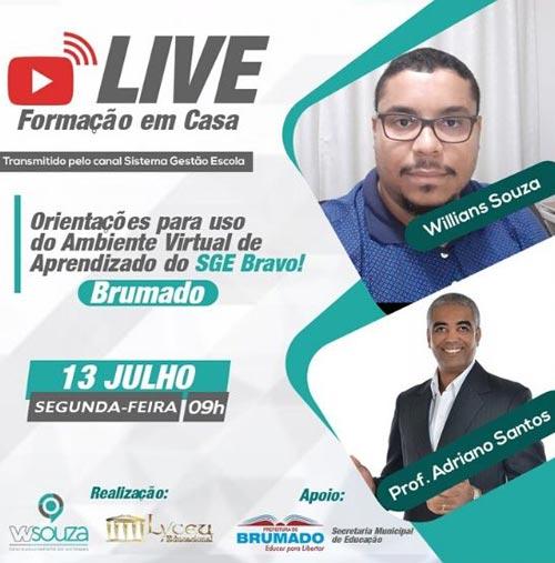 Live Formação em Casa: Prefeitura de Brumado vai orientar uso do sistema virtual de aprendizado