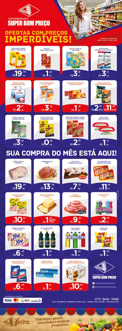 Confira as promoções no Supermercado Super Bom Preço em Brumado