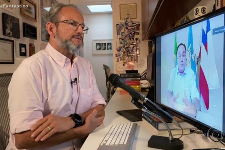 Candiba: Em entrevista ao Fantástico, prefeito pede desculpas por ter furado a fila da vacina da Covid-19