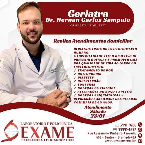 Saiba quando deve consultar um médico geriatra na Clínica Exame em Brumado