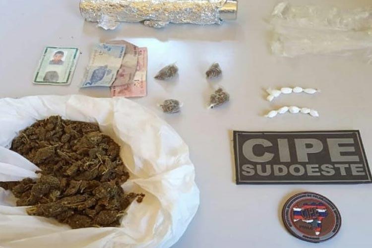 Cipe Sudoeste apreende drogas no município de Caculé