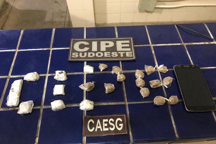 Suspeito de tráfico de drogas é preso na cidade de Tanhaçu