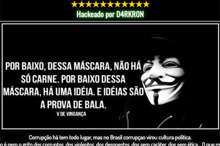 Site da prefeitura de Brumado é hackeado