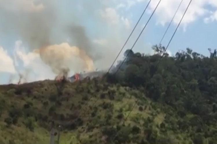 Incêndio destrói espaço equivalente a três campos de futebol em Caatiba