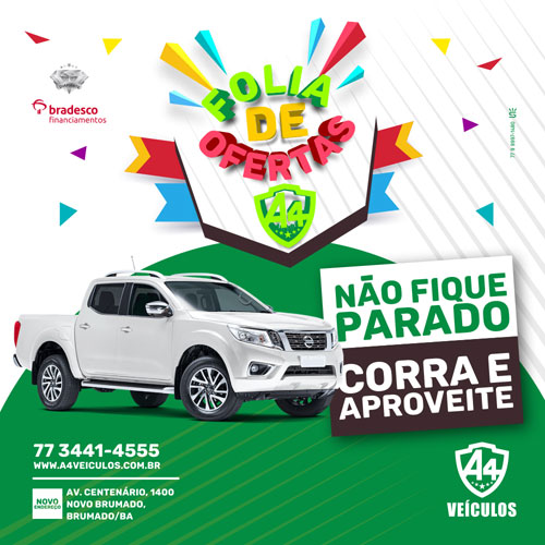 Carnaval de ofertas: A4 veículos tem preços e condições imperdíveis em Brumado