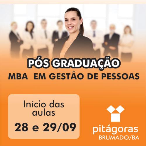 Faculdade Pitágoras de Brumado: Aulas da pós-graduação em Gestão de Pessoas começam no dia 28