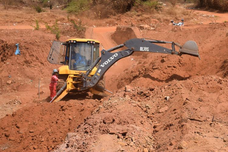 Obras de canalização de riachos visam construção de novo anel rodoviário em Brumado