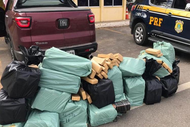 Homem é preso com mais de meia tonelada de maconha na BR-116 em Vitória da Conquista