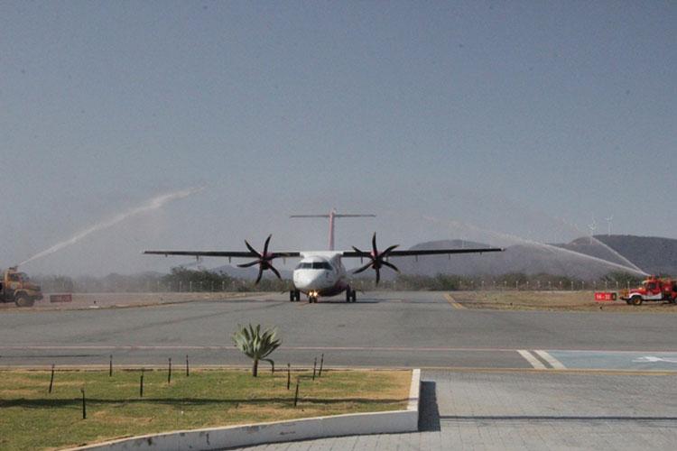 Azul faz voo inaugural de Guanambi a aeroporto de Confins em Belo Horizonte