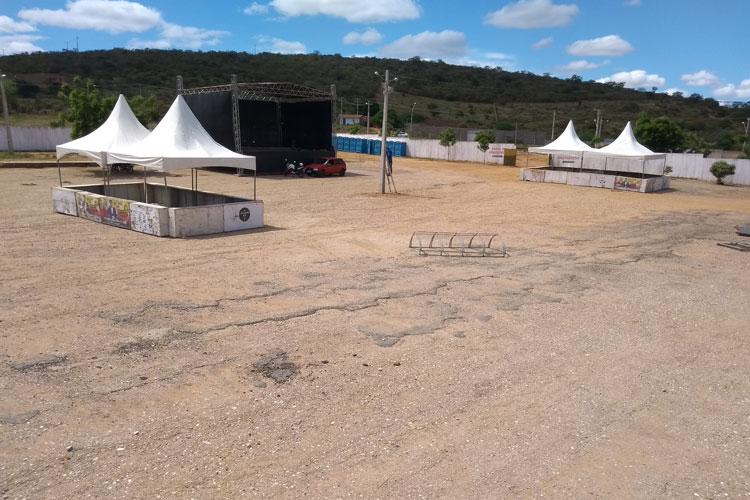 Parque de exposições recebe últimos ajustes para a ExpoBrumado 2018