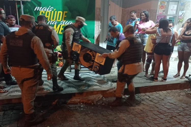 Igaporã/BA: Policiais encerram festas de paredão e apreendem equipamentos e veículos
