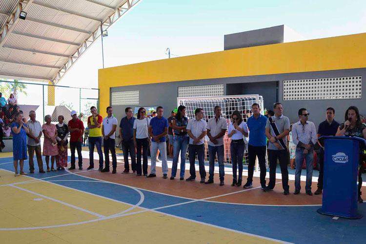 Prefeitura de Caculé inaugura Ginásio Poliesportivo Aníbal Soares Pereira