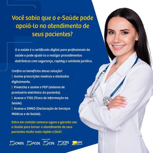 Brumado: CDL está comercializando certificado digital para profissionais de saúde