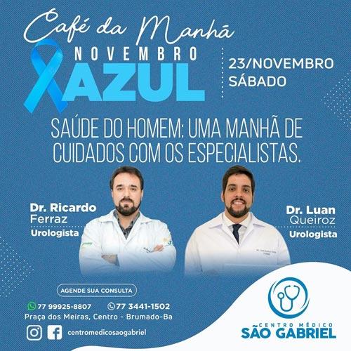 Novembro Azul: Centro Médico São Gabriel promove café da manhã em Brumado
