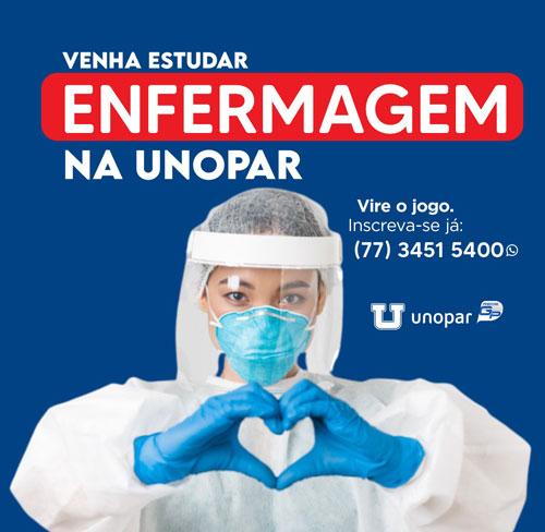 Matrículas abertas para o curso de Enfermagem na Unopar em Brumado