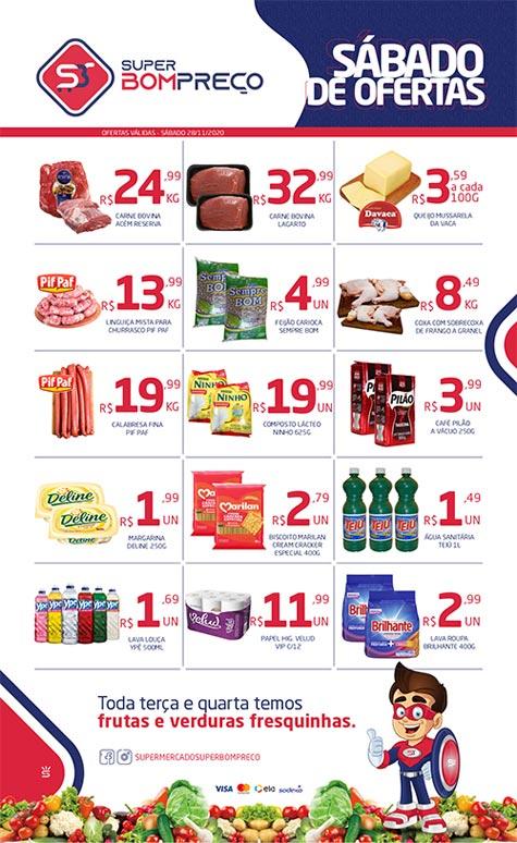 Sábado de ofertas no Supermercado Super Bom Preço em Brumado