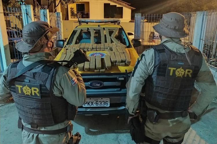 Brumado: PRE apreende 91 kg de maconha em ônibus da empresa Novo Horizonte na BR-030
