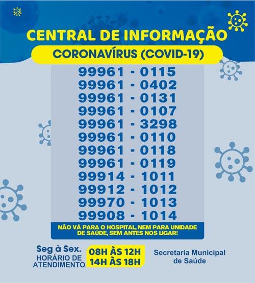 Brumado: Central de Informação Covid-19 altera horário de funcionamento
