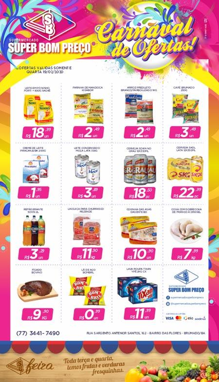 Confira as ofertas de carnaval no Supermercado Super Bom Preço em Brumado