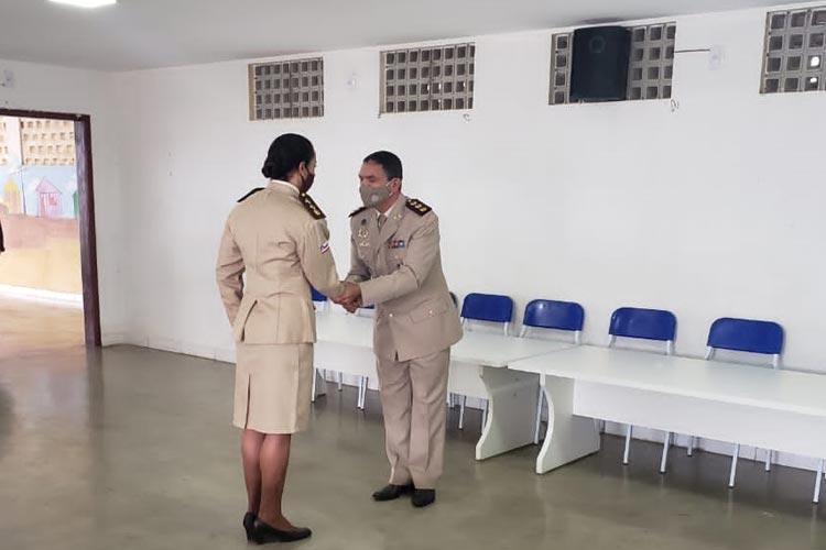 Major Leila e Capitã Lorena são empossadas como novas comandantes da 2ª CIPRv Brumado