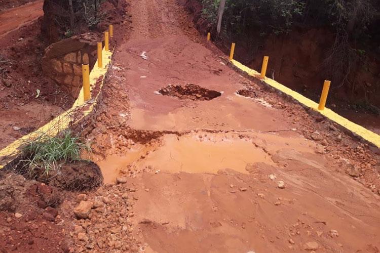 Ponte recém-construída na zona rural de Caetité põe em risco a vida de condutores