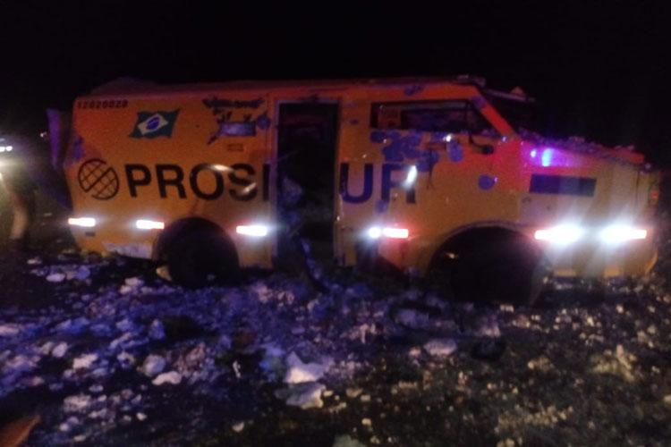 Segurança morre e outro fica ferido em ataque a carro-forte na cidade de Boa Nova