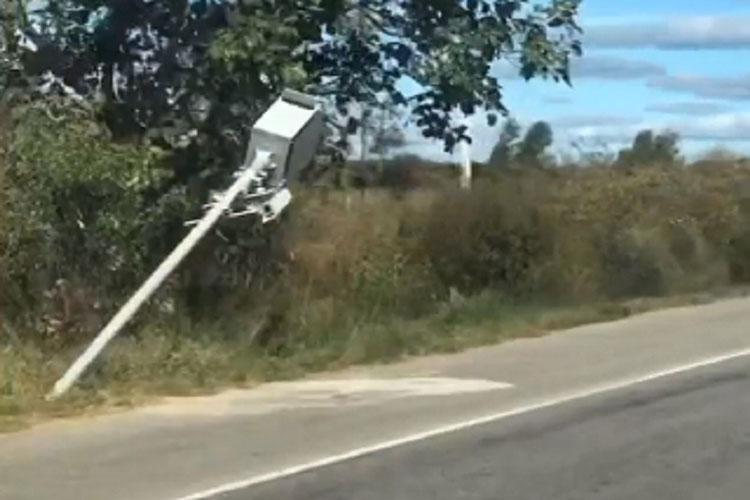 Vândalos destroem radares instalados nas rodovias de Anagé e Tanhaçu