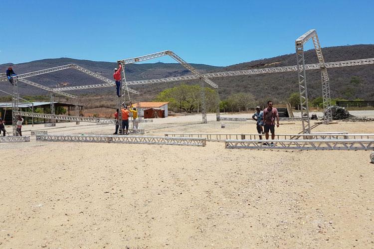 Arena Safadão: Mega Estrutura começou a ser montada em Brumado
