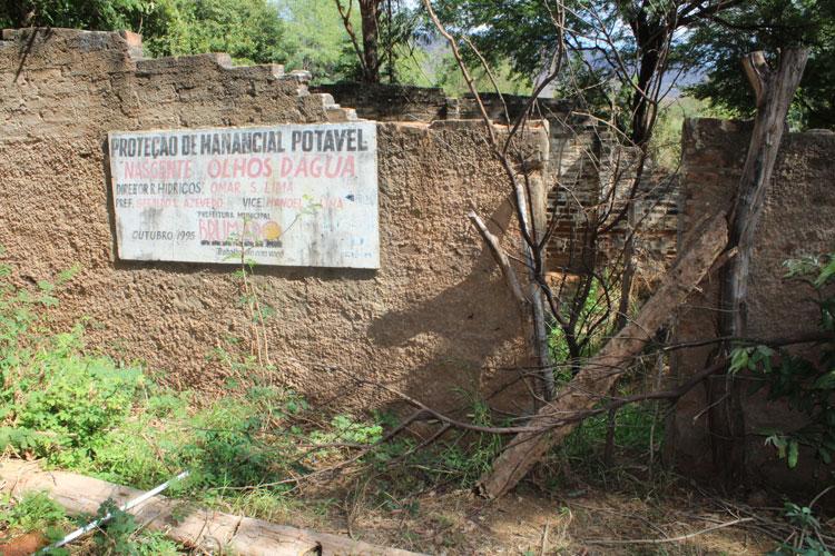Poder público se omite e faz Brumado perder fonte de água potável que sustentou o município na seca de 1998