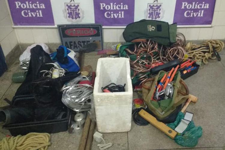 Polícia Civil recupera bens furtados e detém três suspeitos em Brumado