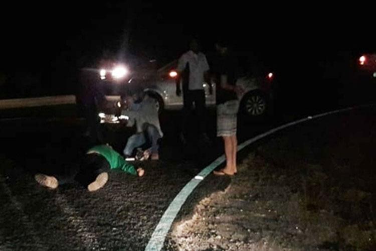 Mulher fica gravemente ferida em acidente no entroncamento de Dom Basílio