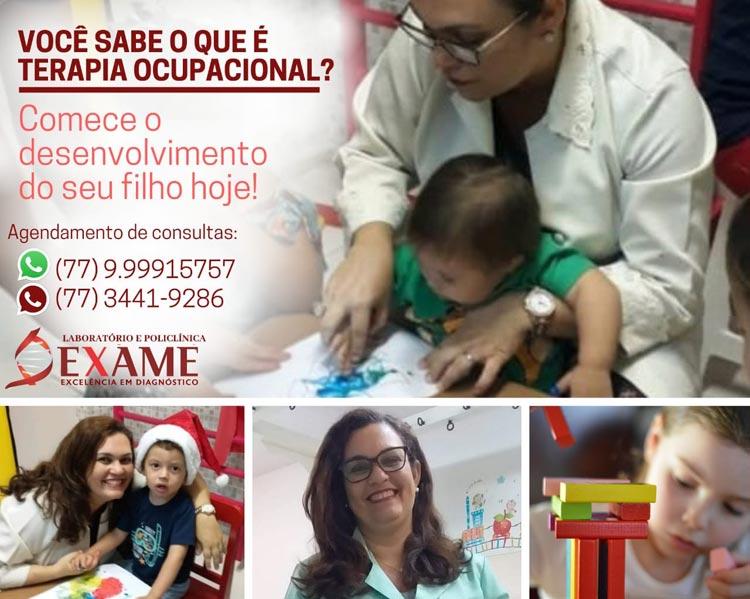 Terapia ocupacional é na clínica Exame em Brumado
