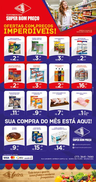 Confira as promoções da semana no Supermercado Super Bom Preço em Brumado