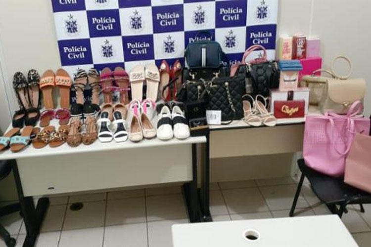 Casal é preso por suspeita de praticar crimes de receptação em lojas de Vitória da Conquista