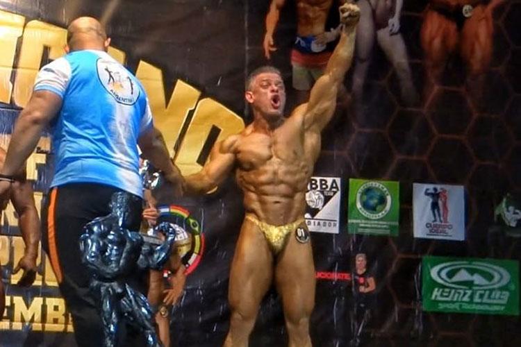 Brumadense Alípio Júnior é vice-campeão sul-americano de fisiculturismo