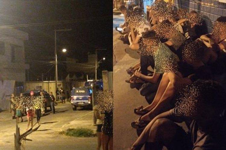 Guanambi: PM acaba com festa em pleno surto de coronavírus com 62 pessoas, sendo 30 adolescentes
