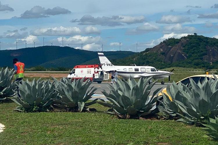 Covid-19: Aeroporto de Guanambi tem movimento intenso de pacientes para serem transferidos