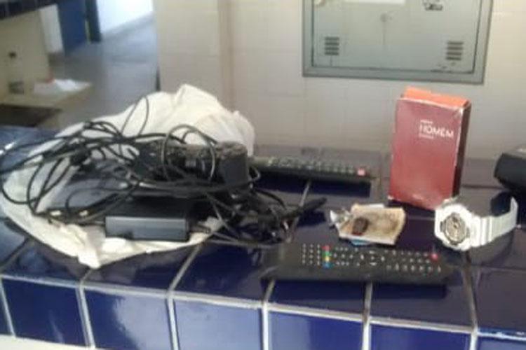 Tanhaçu: Homem é autuado em flagrante por arrombar e furtar objetos em residências